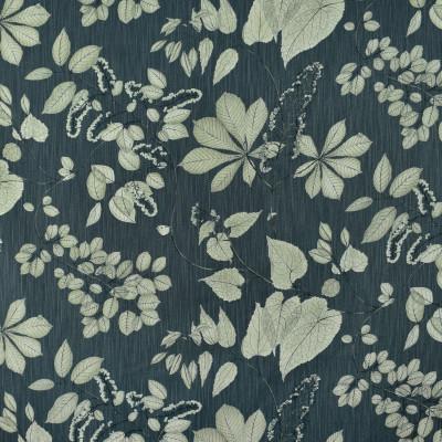 S2708 Slate Fabric: S35, ANNA ELISABETH, LARGE PRINT, LARGE SCALE, PRINT, COTTON, COTTON PRINT, 100% COTTON, FLORAL PRINT, FOLIAGE PRINT, BLUE FOLIAGE, LEAF, LEAF PRINT, BLUE LEAF, GRAY LEAF, GREY LEAF, GRAY FOLIAGE, GREY FOLIAGE