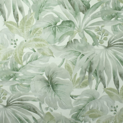 S2711 Mist Fabric: S35, ANNA ELISABETH, LARGE PRINT, LARGE SCALE, PRINT, COTTON, COTTON PRINT, 100% COTTON, TROPICAL PRINT, LEAF, TROPICAL LEAF, FOLIAGE PRINT, GREEN TROPICAL PRINT, GREEN PRINT, TROPICAL