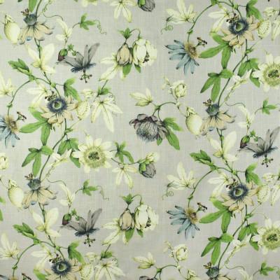 S2712 Dove Fabric: S35, ANNA ELISABETH, LARGE PRINT, LARGE SCALE, PRINT, FAUX LINEN, FAUX LINEN PRINT, FLORAL PRINT, GREEN FLORAL, GRAY FLORAL, GREY FLORAL, GREEN PRINT, GRAY PRINT, GREY PRINT