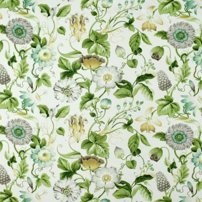 S2713 Green Tea Fabric: S35, ANNA ELISABETH, LARGE PRINT, LARGE SCALE, PRINT, COTTON, COTTON PRINT, 100% COTTON, FLORAL PRINT, COTTON FLORAL, GREEN FLORAL
