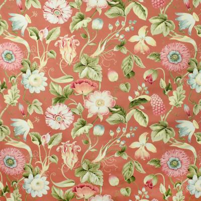 S2717 Mango Fabric: S35, ANNA ELISABETH, LARGE PRINT, LARGE SCALE, PRINT, COTTON, COTTON PRINT, 100% COTTON, FLORAL PRINT, COTTON FLORAL, PINK PRINT, PINK FLORAL, ORANGE PRINT, ORANGE FLORAL
