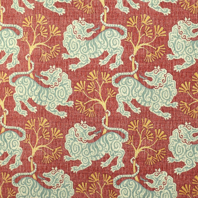 S2719 Rouge Fabric: S35, ANNA ELISABETH, PRINT, COTTON, COTTON PRINT, 100% COTTON, NOVELTY PRINT, ANIMAL PRINT, BLUE PRINT, LION, BLUE LION, RED PRINT, LION PRINT, NOVELTY, RED LION