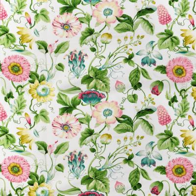 S2721 Spring Fabric: S35, ANNA ELISABETH, LARGE PRINT, LARGE SCALE, PRINT, FAUX LINEN, FAUX LINEN PRINT, PINK FLORAL, BLUE FLORAL, FLORAL PRINT, JACOBEAN, JACOBEAN PRINT, YELLOW FLORAL