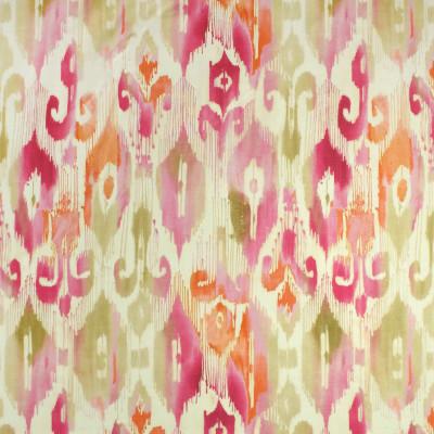 S2725 Pink Blush Fabric: S35, ANNA ELISABETH, LARGE PRINT, LARGE SCALE, PRINT, COTTON, COTTON PRINT, 100% COTTON, IKAT, PINK IKAT, ORANGE IKAT, IKAT PRINT