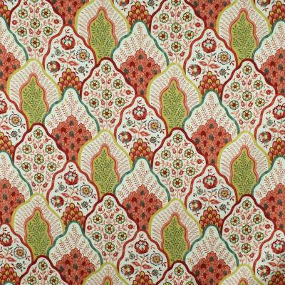 S2820 Melon Fabric: S38, ANNA ELISABETH, COTTON, 100% COTTON, COTTON PRINT, FLORAL, PRINT, FLORAL PRINT, PINK, YELLOW, CORAL, PINK FLORAL, YELLOW FLORAL, MELON