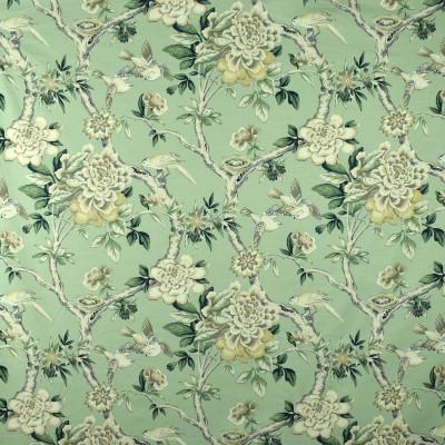 S2860 Julep Fabric: S38, ANNA ELISABETH, COTTON, 100% COTTON, COTTON PRINT, FLORAL PRINT, FLORAL, PRINT, GREEN, MINT, GREEN FLORAL, BIRD, BIRD PRINT