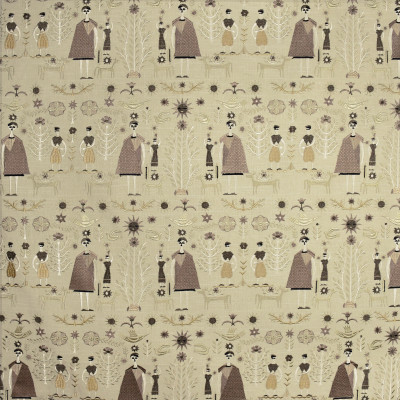 S2903 Linen Fabric: S39, ANNA ELISABETH, NFPA260, NFPA 260, NOVELTY, EMBROIDERY, NOVELTY EMBROIDERY, PEOPLE, NEUTRAL EMBROIDERY, NEUTRAL