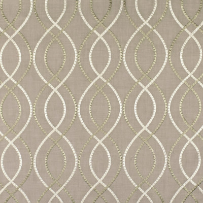 S2904 Flaxen Fabric: S39, ANNA ELISABETH, NFPA260, NFPA 260, MEDALLION, OGEE, LATTICE, EMBROIDERY, MEDALLION EMBROIDERY, OGEE EMBROIDERY, LATTICE EMBROIDERY, NEUTRAL, NEUTRAL EMBROIDERY, WINDOW, FLAXEN