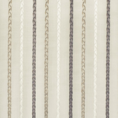 S2911 Travertine Fabric: S39, ANNA ELISABETH, NFPA260, NFPA 260, STRIPE, STRIPE EMBROIDERY, BRAIDED EMBROIDERY, GRAY STRIPE, NEUTRAL STRIPE, GRAY, NEUTRAL