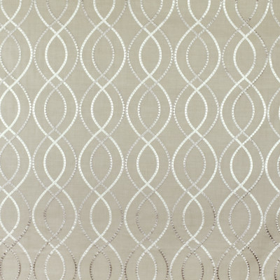 S2947 Oyster Fabric: S40, ANNA ELISABETH, NFPA260, NFPA 260, MEDALLION, LATTICE, EMBROIDERY, GRAY, MEDALLION EMBROIDERY, LATTICE EMBROIDERY, OGEE, WINDOW, GRAY EMBROIDERY