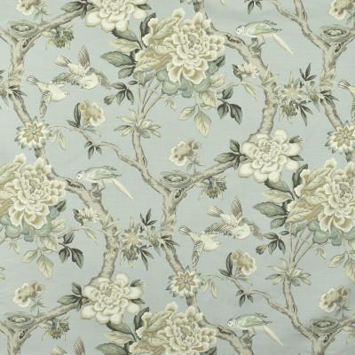 S2955 Platinum Fabric: S40, ANNA ELISABETH, COTTON, 100% COTTON, FLORAL, PRINT, GRAY, GREY, BIRD, GRAY FLORAL, GRAY PRINT, FLORAL PRINT, ANIMAL, BIRD PRINT