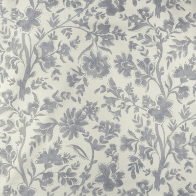 S2960 Pewter Fabric: S40, ANNA ELISABETH, FLORAL, PRINT, GRAY, GREY, GRAY FLORAL, FLORAL PRINT, GRAY PRINT