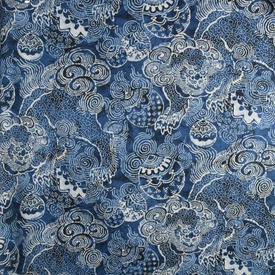 S3000 Indigo Fabric: S41, ANNA ELISABETH, NOVELTY, ANIMAL, PRINT, ANIMAL PRINT, NOVELTY PRINT, DRAGON, DRAGON PRINT, BLUE, BLUE DRAGON, BLUE ANIMAL