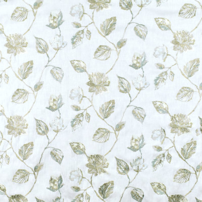 S3003 Crystaline Fabric: S41, ANNA ELISABETH, NFPA 260, NFPA260, FLORAL, EMBROIDERY, BLUE, ICE BLUE, SKY, FLORAL EMBROIDERY, BLUE FLORAL, WINDOW