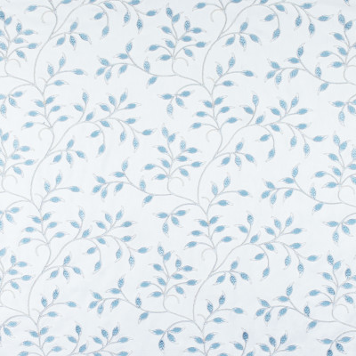 S3005 Topaz Fabric: S41, ANNA ELISABETH, NFPA 260, NFPA260, FLORAL, FOLIAGE, EMBROIDERY, BLUE, FLORAL EMBROIDERY, FOLIAGE EMBROIDERY, BLUE EMBROIDERY, WINDOW