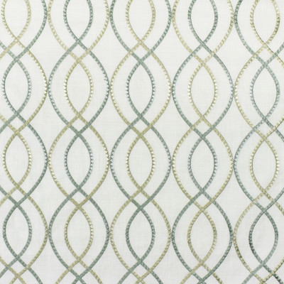 S3008 Quartz Fabric: S41, ANNA ELISABETH, NFPA 260, NFPA260, OGEE, MEDALLION, LATTICE, EMBROIDERY, BLUE, BLUE EMBROIDERY, MEDALLION EMBROIDERY, LATTICE EMBROIDERY, WINDOW