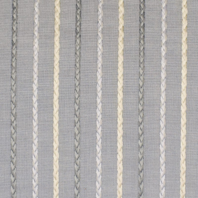 S3011 Ocean Fabric: S41, ANNA ELISABETH, NFPA 260, NFPA260, STRIPE, EMBROIDERY, BLUE, BRAID, BRAIDED EMBROIDERY, STRIPE EMBROIDERY, EMBROIDERED STRIPE, BLUE STRIPE, BLUE EMBROIDERY, WINDOW