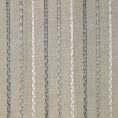 S3017 Slate Fabric: S41, ANNA ELISABETH, NFPA 260, NFPA260, STRIPE, EMBROIDERY, BLUE, BRAID, BRAIDED EMBROIDERY, STRIPE EMBROIDERY, EMBROIDERED STRIPE, BLUE STRIPE, BLUE EMBROIDERY, SLATE, WINDOW