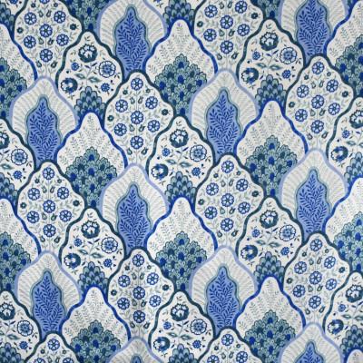 S3021 Capri Fabric: S41, ANNA ELISABETH, COTTON, 100% COTTON, COTTON PRINT, FLORAL, PRINT, BLUE, BLUE FLORAL, FLORAL PRINT