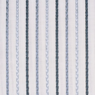 S3028 Uniform Fabric: S41, ANNA ELISABETH, NFPA 260, NFPA260, STRIPE, EMBROIDERY, BLUE, BRAID, BRAIDED EMBROIDERY, STRIPE EMBROIDERY, BLUE STRIPE, BLUE EMBROIDERY, WINDOW