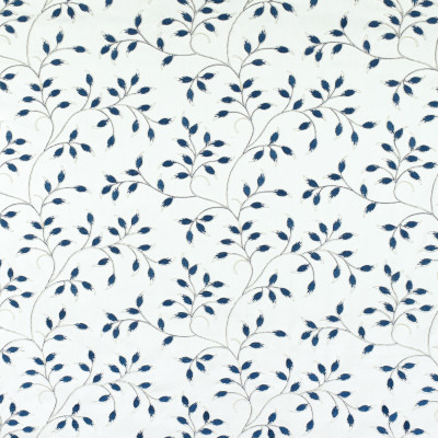 S3033 Sapphire Fabric: S41, ANNA ELISABETH, NFPA 260, NFPA260, FLORAL, FOLIAGE, EMBROIDERY, BLUE, FLORAL EMBROIDERY, FOLIAGE EMBROIDERY, BLUE EMBROIDERY, SAPPHIRE, WINDOW