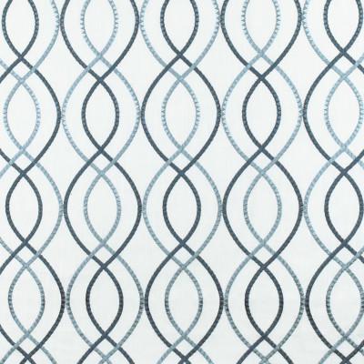 S3036 Marina Fabric: S41, ANNA ELISABETH, NFPA 260, NFPA260, MEDALLION, LATTICE, OGEE, EMBROIDERY, BLUE, MEDALLION EMBROIDERY, LATTICE EMBROIDERY, BLUE EMBROIDERY, WINDOW