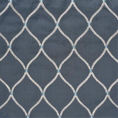 S3038 Sapphire Fabric: S41, ANNA ELISABETH, OGEE, OGEE EMBROIDERY, EMBROIDERY, MEDALLION, MEDALLION EMBROIDERY, SAPPHIRE, WINDOW