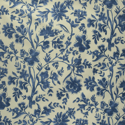S3040 Indigo Fabric: S41, ANNA ELISABETH, FLORAL, FLORAL PRINT, PRINT, BLUE, BLUE FLORAL