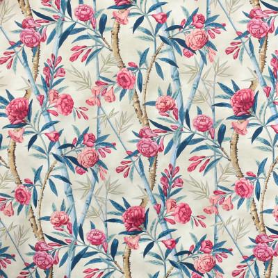 S3121 Tussah Fabric: M03, FLORAL, PRINT, COTTON, 100% COTTON, COTTON PRINT, PINK, BLUE