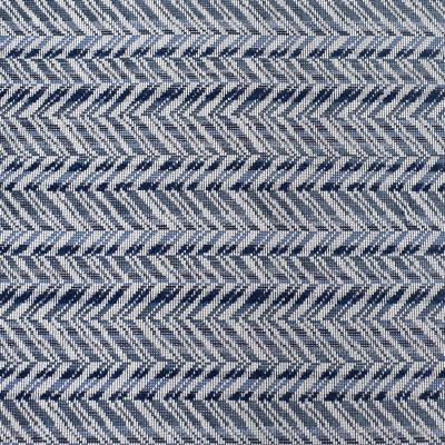 S3129 Caspian Fabric: M03, CHEVRON, WOVEN, TEXTURE, BLUE