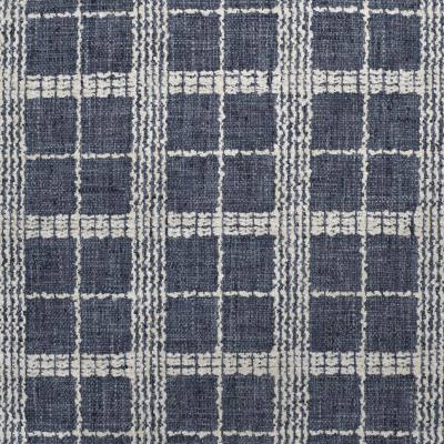 S3139 Marina Fabric: M03, PLAID, CHECK, WOVEN, TEXTURE, BLUE