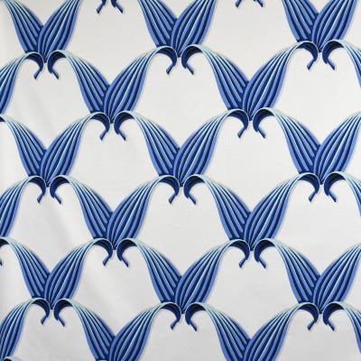 S3144 Bliss Fabric: M03, FOLIAGE, CONTEMPORARY, LEAF, PRINT, COTTON, 100% COTTON, COTTON PRINT, BLUE