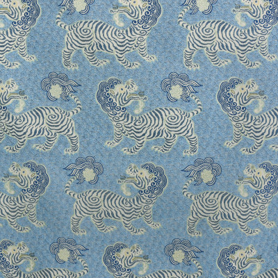 S3145 Porcelain Fabric: M03, ANIMAL, NOVELTY, WOVEN, BLUE, DRAGON, PORCELAIN