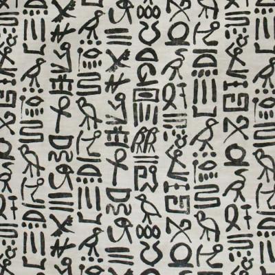 S3154 Ebony Fabric: M03, ABSTRACT, SCRIPT, CONTEMPORARY, PRINT, BLACK, EBONY