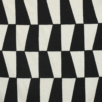 S3158 Domino Fabric: M03, GEOMETRIC, CONTEMPORARY, EMBROIDERY, WINDOW, TEXTURE, BLACK