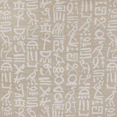 S3163 Chalk Fabric: M03, ABSTRACT, SCRIPT, CONTEMPORARY, PRINT, NEUTRAL, CHALK