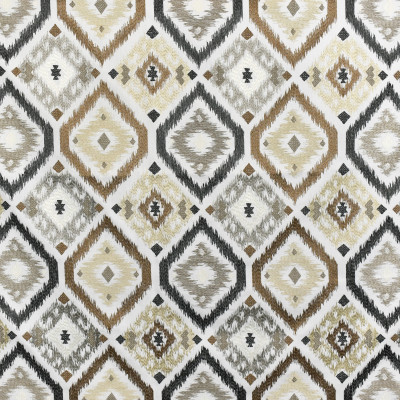 S3165 Natural Fabric: M03, MEDALLION, SOUTHWEST, EMBROIDERY, WINDOW, NEUTRAL, GRAY, GREY, NATURAL