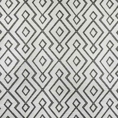 S3166 Ebony/Ivory Fabric: M03, GEOMETRIC, LATTICE, WOVEN, BLACK ,WHITE, BLACK AND WHITE