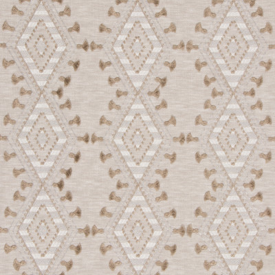 S3168 Flaxen Fabric: M03, DIAMOND, GEOMETRIC, CONTEMPORARY, EMBROIDERY, WINDOW, NEUTRAL, FLAXEN