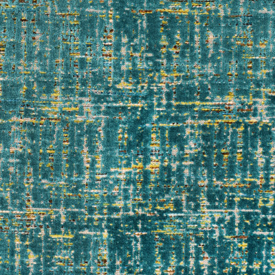 S3190 Tourmaline Fabric: M03, CONTEMPORARY, VELVET, TEXTURE, CUT VELVET, TEAL, MULTI