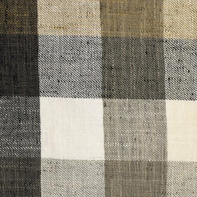 S3200 Sparrow Fabric: M03, CHECK, BUFFALO CHECK, WOVEN, BLACK, NEUTRAL