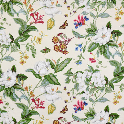 S3201 Cream Fabric: M03, FLORAL, PRINT, NEUTRAL, CREAM, RED, COTTON, COTTON PRINT, 100% COTTON
