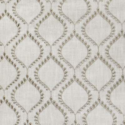 S3204 Jute Fabric: M03, MEDALLION, OGEE, EMBROIDERY, WINDOW, NEUTRAL, JUTE