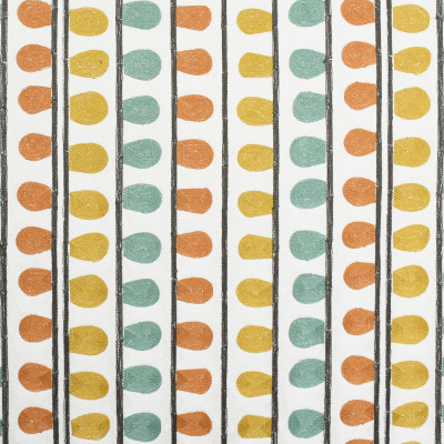 S3210 Agate Fabric: M03, CONTEMPORARY, STRIPE, DOT, EMBROIDERY, WINDOW, MULTI, GOLD, GREEN, ORANGE