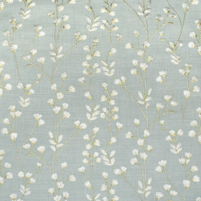 S3232 Crystal Fabric: M03, FLORAL, FOLIAGE, EMBROIDERY, WINDOW, BLUE, SPA
