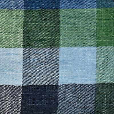 S3405 Seascape Fabric: M04, ANNA ELISABETH, CHECK, BUFFALO CHECK, WOVEN, GREEN, BLUE, GREEN AND BLUE