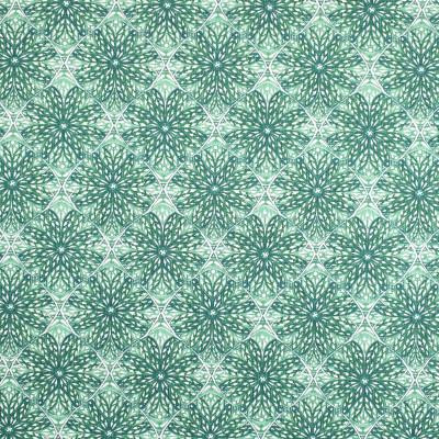 S3406 Basil Fabric: M04, ANNA ELISABETH, MEDALLION, FLORAL, PRINT, GREEN, BASIL
