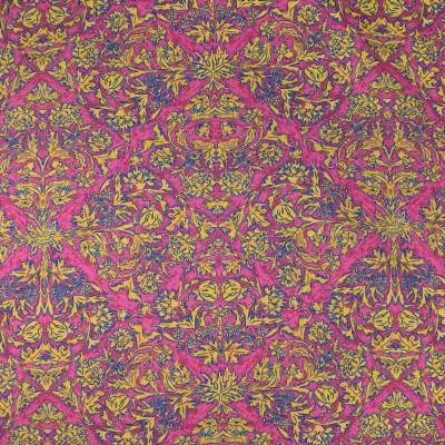 S3421 Latana Fabric: M04, ANNA ELISABETH, FLORAL, DIAMOND, GEOMETRIC, PRINT, PINK, YELLOW, CONTEMPORARY
