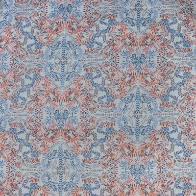 S3430 American Fabric: M04, ANNA ELISABETH, FLORAL, FOLIAGE, PRINT, PINK, BLUE