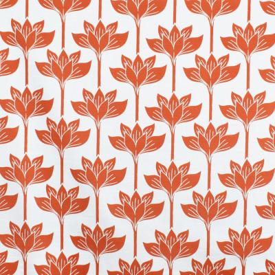 S3445 Coral Fabric: M04, ANNA ELISABETH, FLORAL, PRINT, COTTON, COTTON PRINT, 100% COTTON, ORANGE, LOTUS